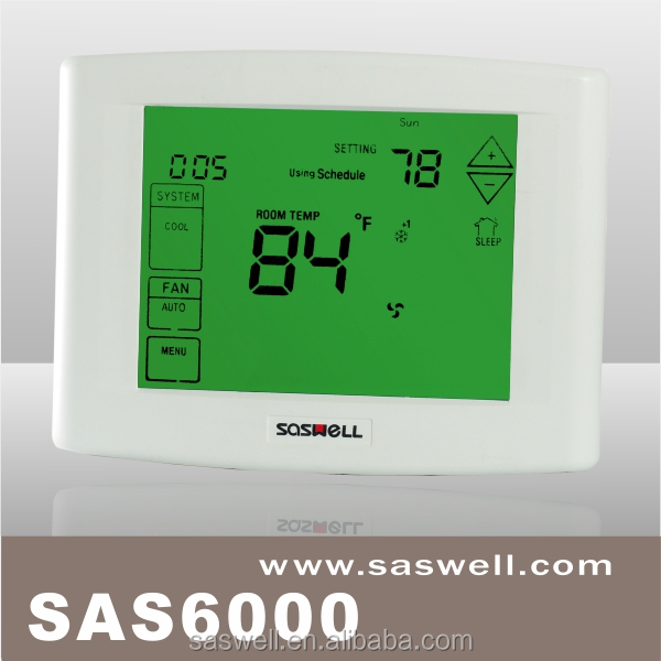 (WSK-9A) central air conditioner thermostat with large LCD touch screen