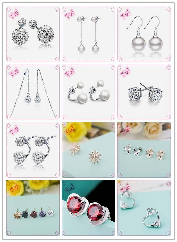 Wholesale Beautiful girls daily wear hip hop style silver 925 stud ...