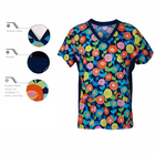 Professional Wholesale Top Quality Printed Nursing Scrub Tops