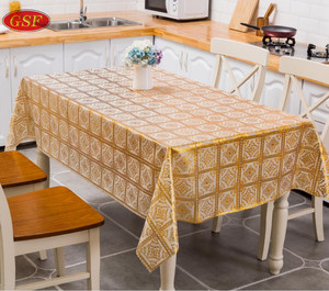 Print good quality embroidering rectangular pvc table cloth