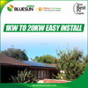 Easy roof installation 20kw 20kva pv solar panel system with gel battery for home