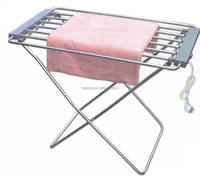 patented product electric heating chrome rust looking outdoor clothes drying rack