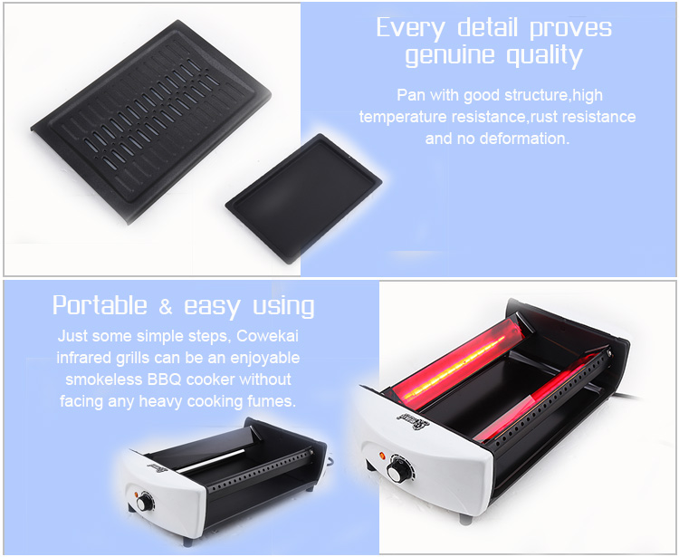 Hot Sale Tabletop Smokeless Electric Infrared BBQ Grill