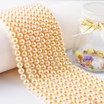 Glass Imitation PearlsLoose Ivory Glass Pearl Beads