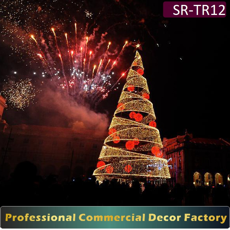 Exterior 6m 7m 8m 9m 10m big Christmas tree with walk through for a exterior decoration