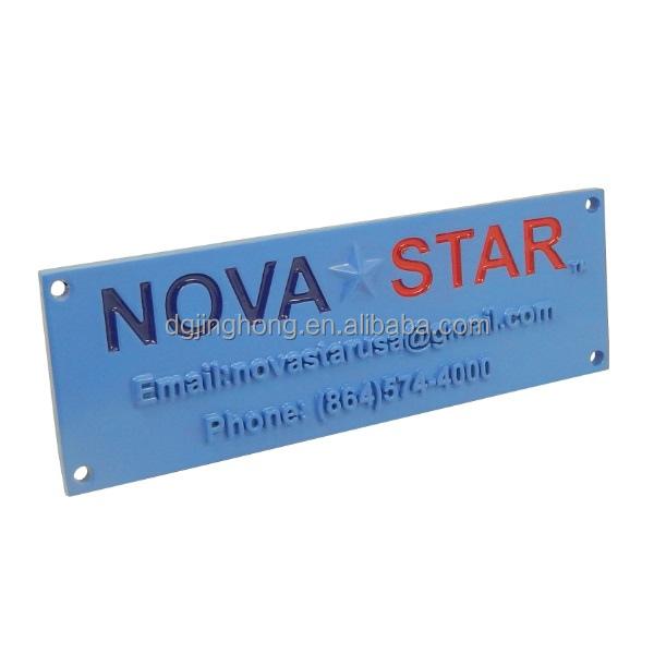 blue spray paint metal plate