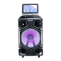 12 inch woofer trolley speaker with 9 inches display screen for outdoor wifi bluetooths speaker 4.0