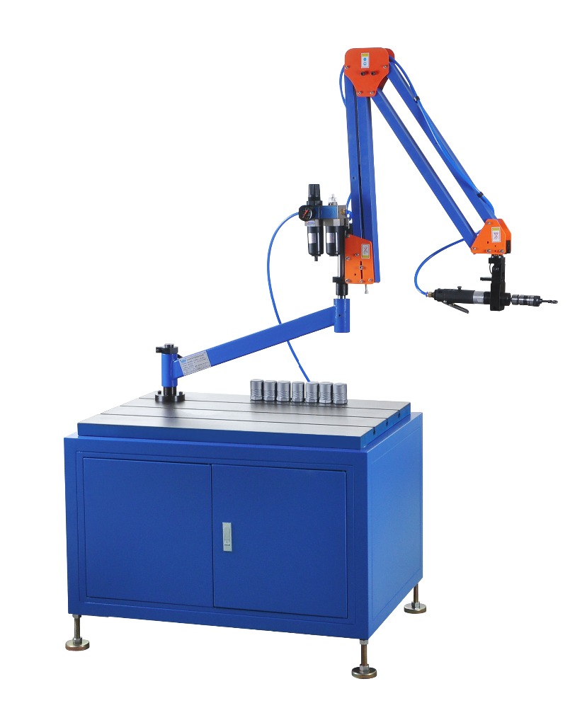 universal flex arm air tapping machine for precessing the metal products
