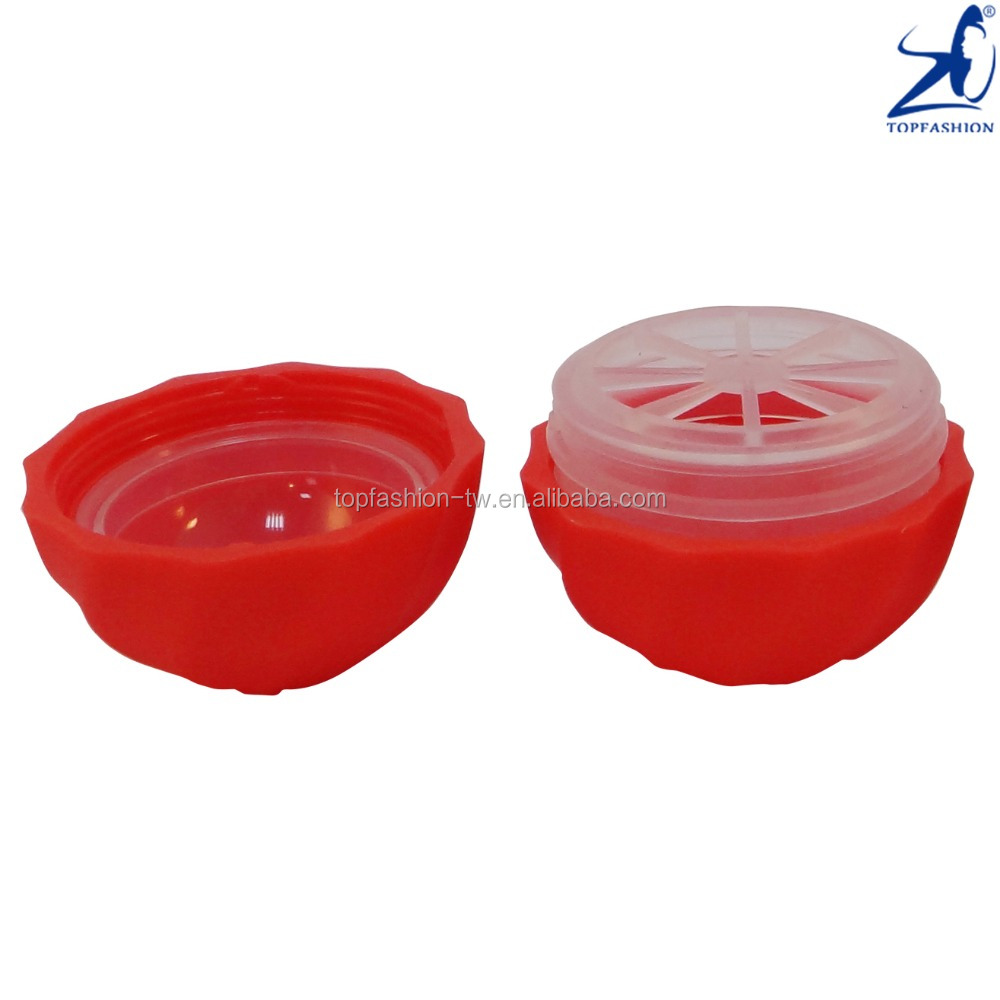TOPFASHION Cosmetic Lip Balm Ball Shaped Empty Case Container 7g Lip Care Packaging