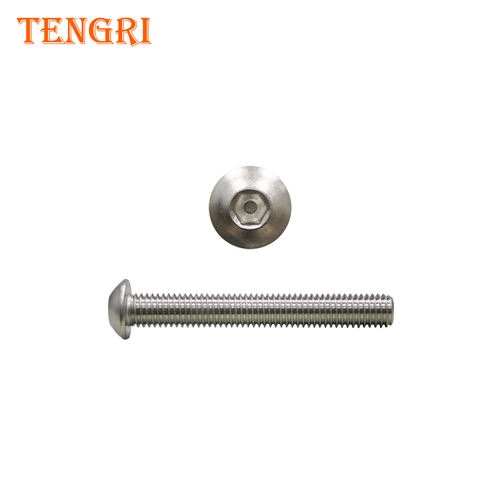 Stainless steel m8*40 flange button socket head screw