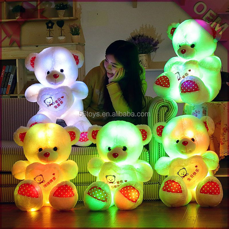 Customsized Light Up Toy High Quality Plush Teddy Wholesale Light ...