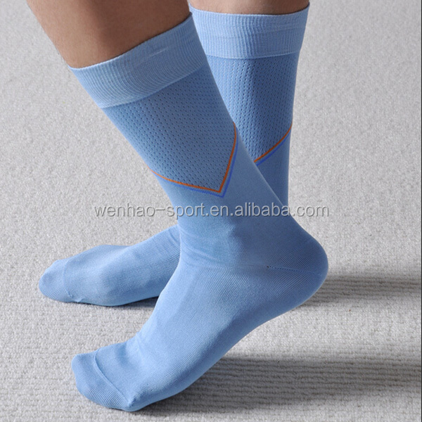 wholesale high quality custom mercerized cotton mens sock