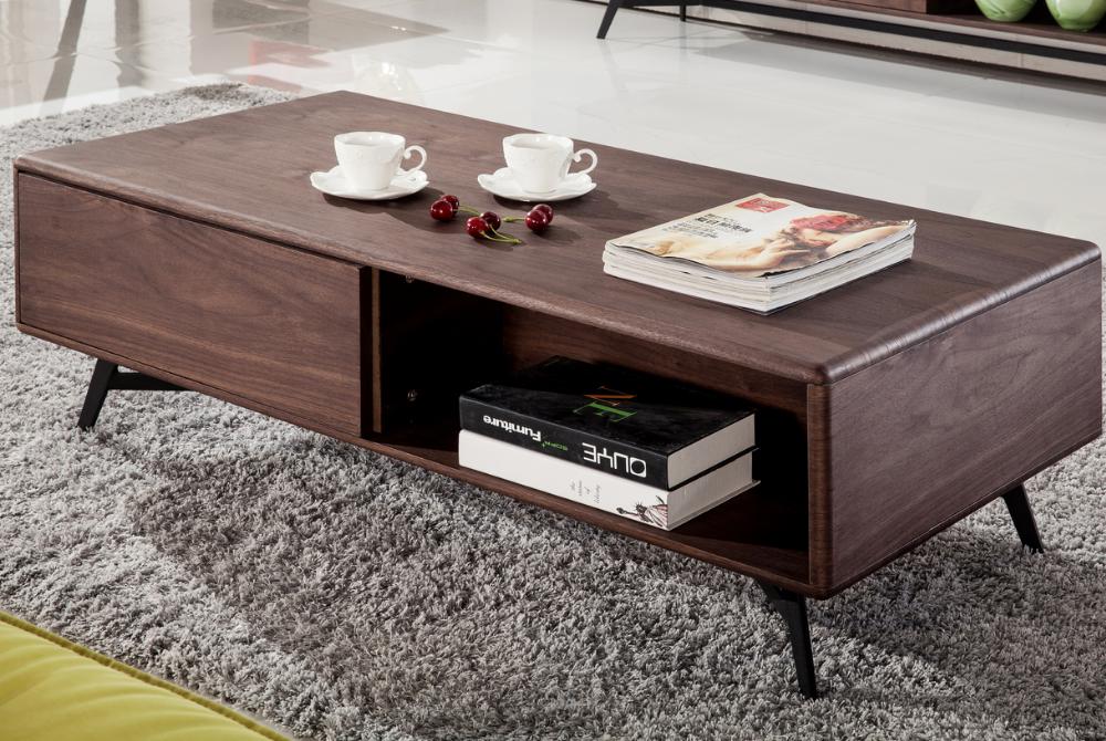 Moderne walnoot kleur houten cafe tafel woonkamer meubels for Houten meubels woonkamer
