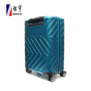Super September Cheap Travel Blue Hardside Wheeled Luggage Suitcase