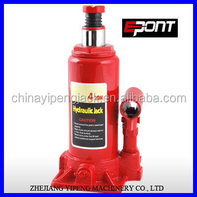 Garage Tool Durable Heavy Duty Red 4-Ton Hydraulic Bottle Jack