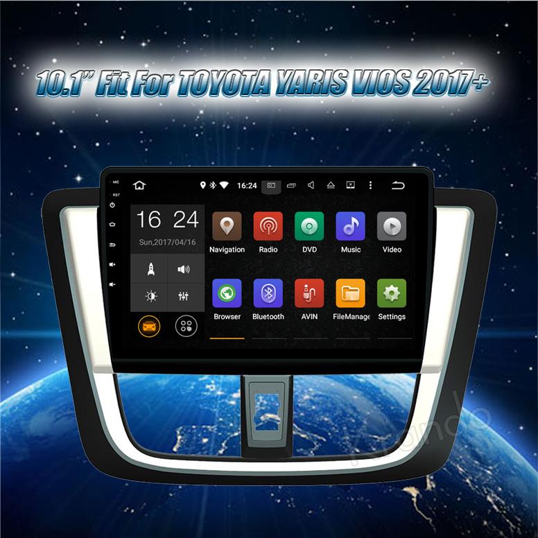 "Krando Android 6.0 10.1 ""autoradio touch screen per toyota vios yaris 2017 2018 autoradio multimediale WIFI 4G LTE 2G RAM KD-TY017"