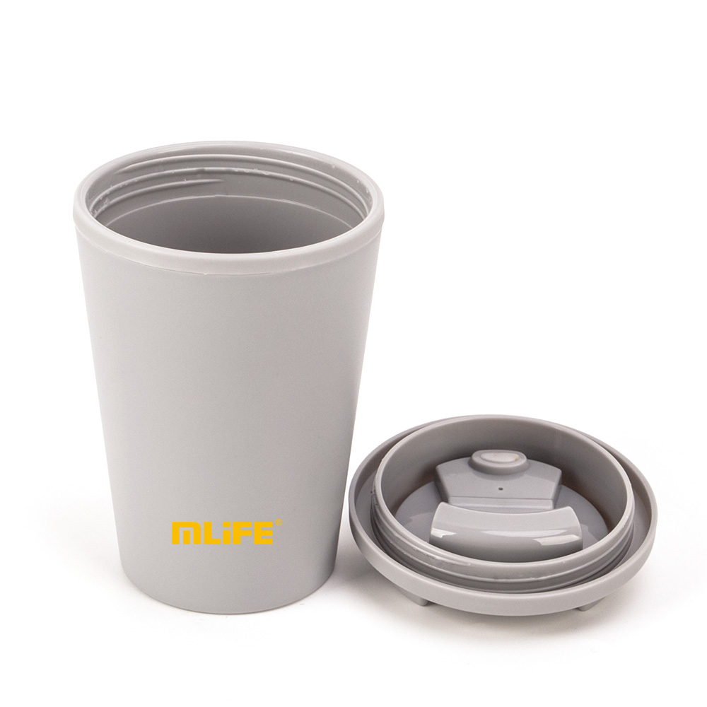 Shenzhen 16oz Double Wall PP Plastic Coffee Cup With Flat Lid custom your logo