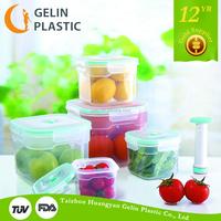 5pcs air pump vacuum food container