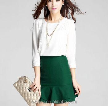 86483d382 Últimas Corea Moda Otoño Oficina Desgaste Faldas Blancas Y Blusas Moda -  Buy Faldas Y Blusas Moda,Falda Y Blusas,Oficina Faldas Y Blusas Product on  ...