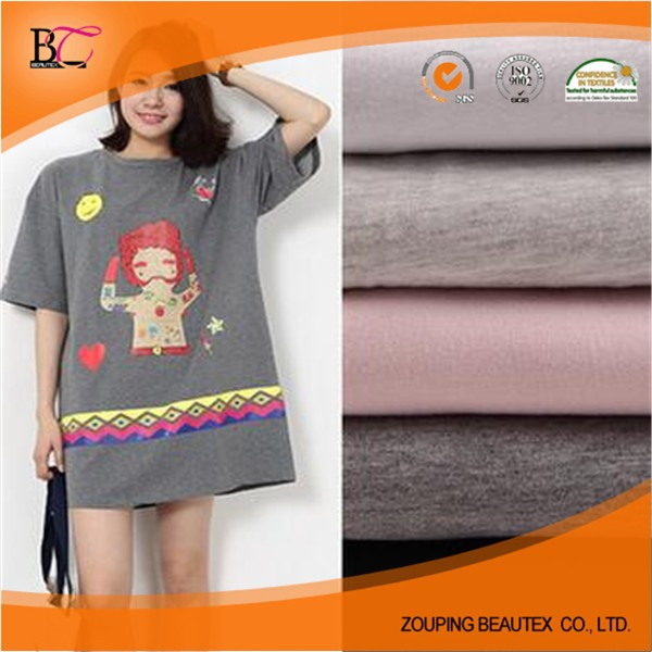 c1d31bf3d5d Hot Sale 100% cotton knitted dark grey single jersey fabric for T-shirt