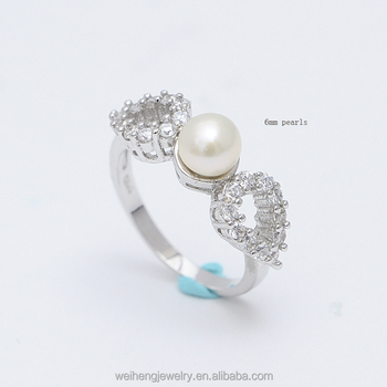 0b7d23547a0 Oem Factory China Accessories Two Heart Jewelry 925 Sterling Silver Pearl  Ring Designs For Women - Buy Pearl Ring Designs For Women,925 Sterling ...