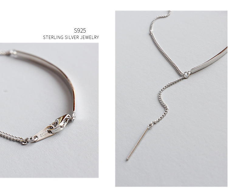 925 Sterling Silver Korean Geometric Hand Chain for Girls with Strip
