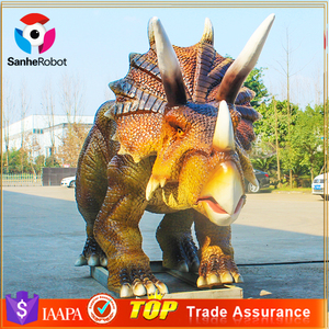 Commercial Decoration Life-size Triceratops Robotic Dinosaur Model