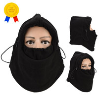 6 in 1 Thermal Fleece Balaclava Hat Hood Police Swat Ski Riding Wind Stopper Mask Cap