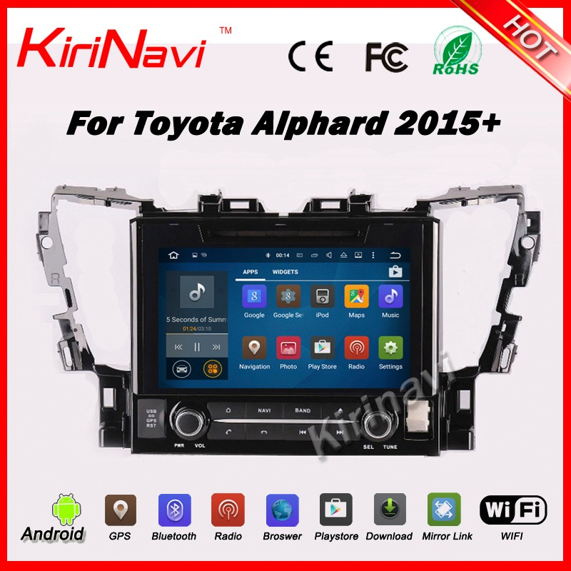 "Kirinavi WC-TA1002 10.2"" android 5.1 <strong>car</strong> navigation system for <strong>toyota</strong> alphard 2015 2016 <strong>car</strong> radio dvd player wifi 3g bt"