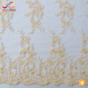 M0089(5.0)Fashion designs women's dress fabric 100% polyester gold embroidered 135cm new york wholesale fabric lace