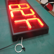 Stability 8.888 red color 16inch led time display /led gas price sign