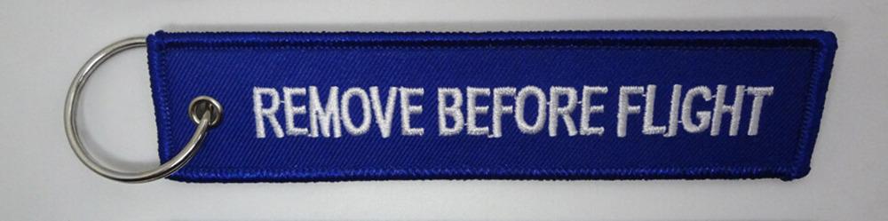 New 2015 1Pcs Blue Remove Before Flight Tag Zipper Pull
