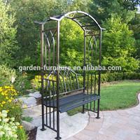 Decorative iron plant garden arch design/wrought iron pergola/pavilion/ arbours