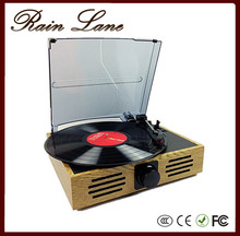 Rain Lane 3 Speed Turntable Automatically Stop System LP Vinyl Record Player