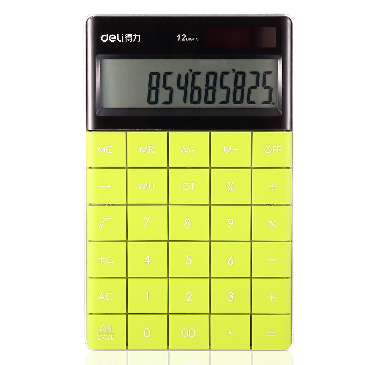 Electronic Desktop Calculator with 12-digit Large Display, Solar and Button Dattery Dual Power Standard 12-Digit Big Display Handheld Function Desktop Calculator (Green 2)