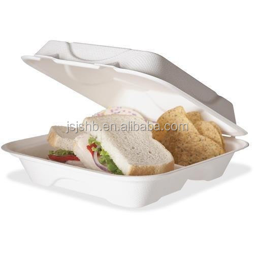 New Product Disposable Tableware Biodegradable Bagasse Food Container