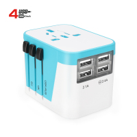 Hot Sale on USA Canada Market Smart IC Travel Plug 4 USB Adapter 3.5A Universal Plug Socket