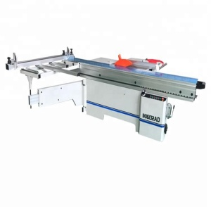 woodworking aluminum structure sliding table saw with precisse performance