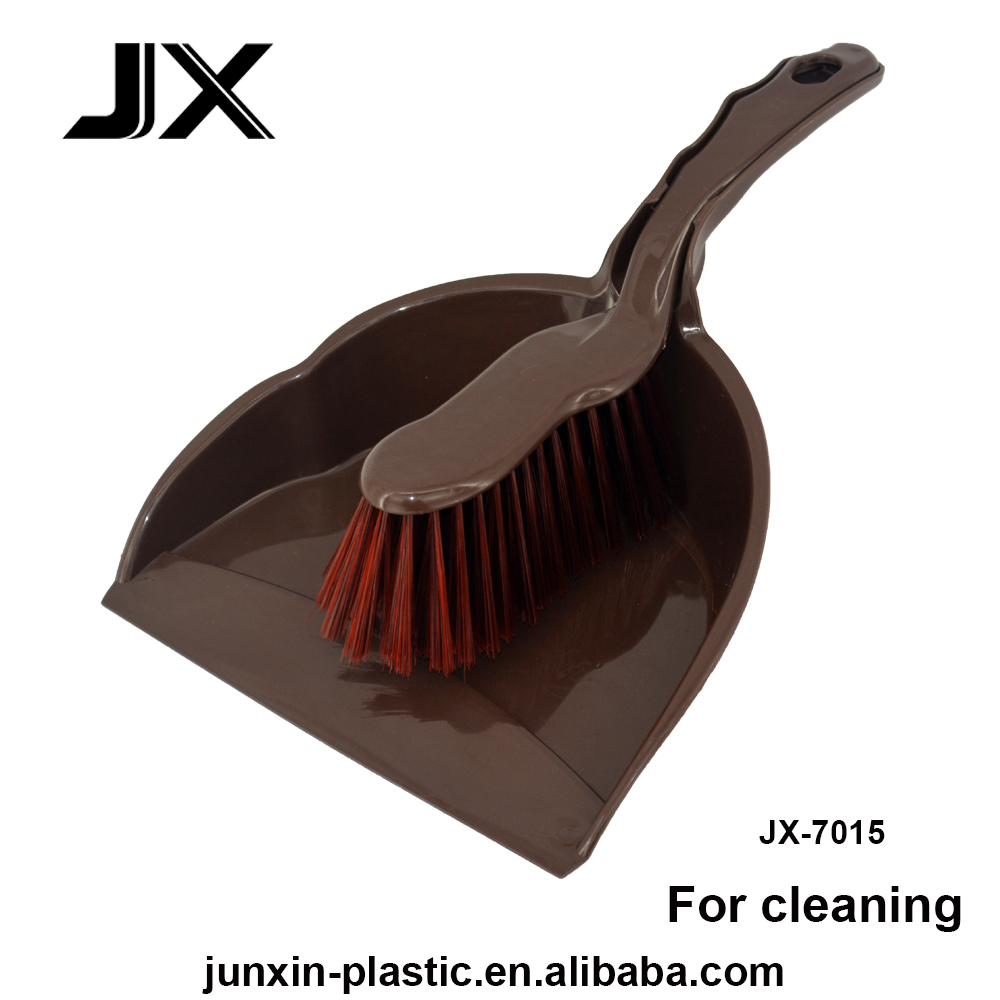 chocolate color plastic broom dustpan with brush for household kitchen cleaning