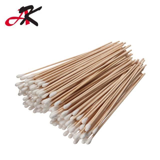 WY075 Getipt Applicators Cleanroom Steriele Bamboe Stok Lange Wattenstaafjes voor Persoonlijke reiniging