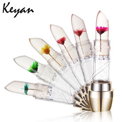 free samples nice flower lipstick OEM with high quality, jelly lip balm