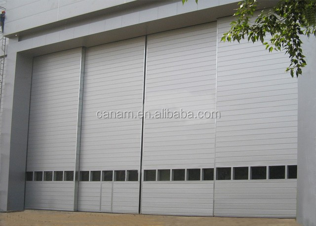 Unique industrial flexible sliding door