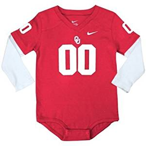 Get Quotations · Nike Oklahoma Sooners Infant Football Jersey Long Sleeve  Creeper - Red White 3 6 16c77c40b