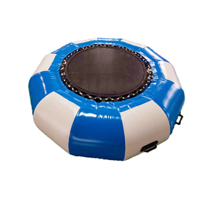 Custom Inflatable Floating Trampoline air Water sports PVC Bouncer