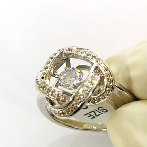 GH021 JN Wholesale AAA CZ Ring Dancing Floating Diamond Rings for women