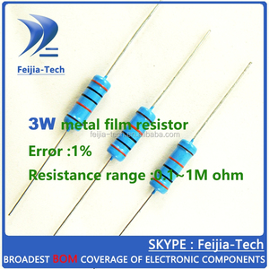 3W 1K ohm +/-1% Metal Film Resistor Color ring resistance