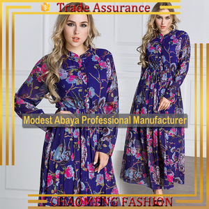 3033# Latest Design Chiffon Kaftan Pictures Muslim Islamic Long Sleeve Maxi Dress Ladies Stylish Turkish Coat Abaya Collection