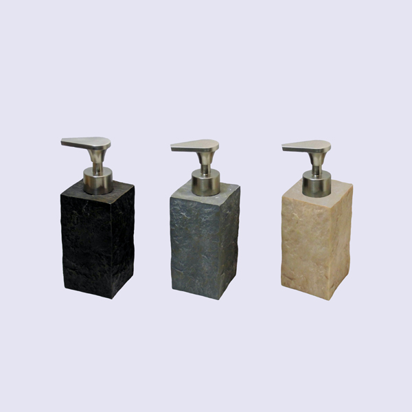 Ea0024 Natural Stone Bathroom Accessories Black Square Shape