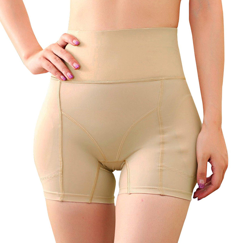 2b987965817 Get Quotations · Shymay Women s Hip Enhancer Butt Lifter Padded Panty Waist  Girdle Control Panties