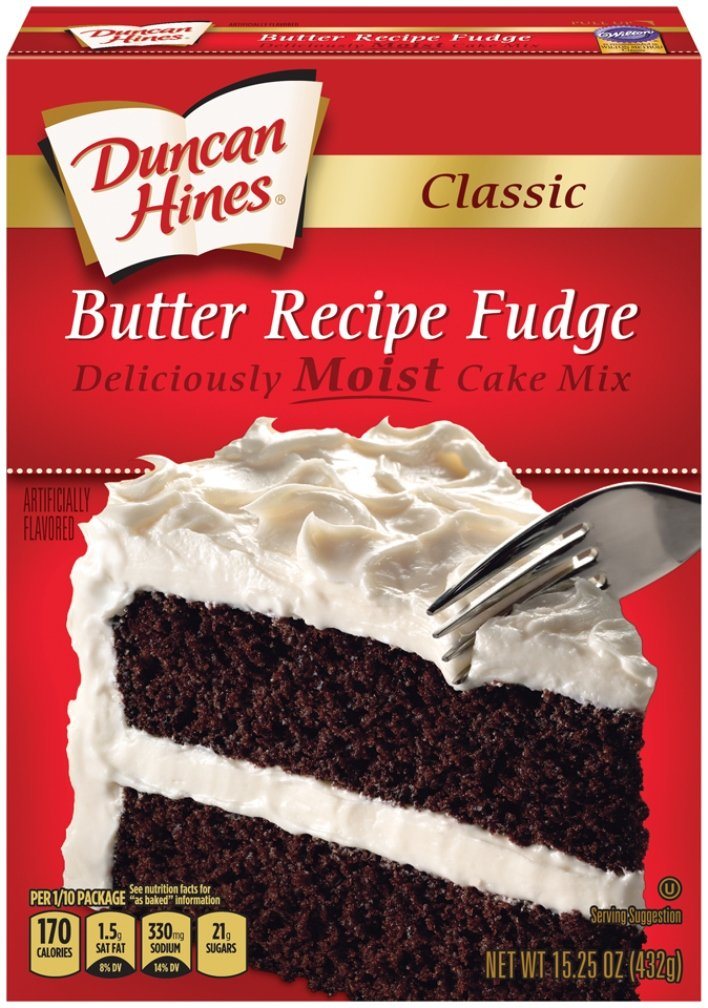 Duncan Hines Classic Cake Mix, Butter Fudge, 15.25 Ounce (Pack of 12)